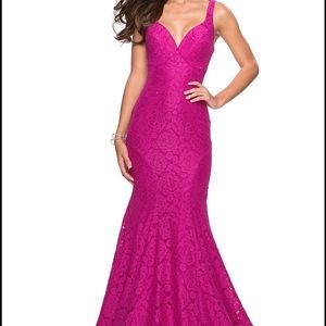 La Femme magenta size 4 prom or pageant dress